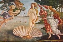 Venus-Aphrodite geht aus dem Milchmeer hervor.