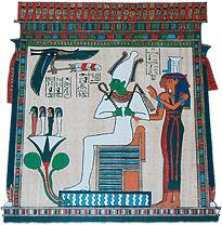 Osiris mit Lotos
