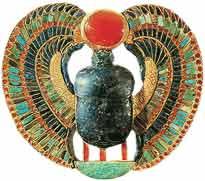 Geflügelter Skarabäus, Brustplatte von Grab des Pharaos Tutanchamun